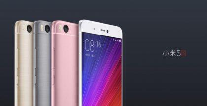 Xiaomi Mi 5s eri väreinään.
