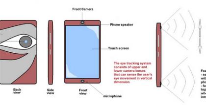 Katseella ohjattava älypuhelin.