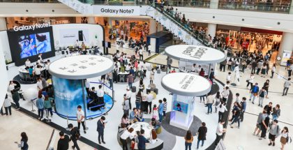 Galaxy Note7:n myynnin aloitusta Koreassa vauhditettiin Experience Zone -esittelyosastoilla.