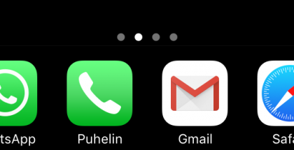 iOS 10 dock piilossa