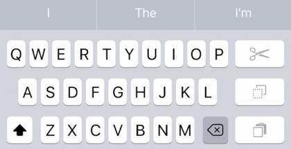 iOS yhden käden näppäimistö
