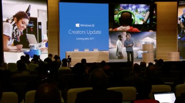 Windows 10 Creators Update ensiesiteltiin jo lokakuussa.