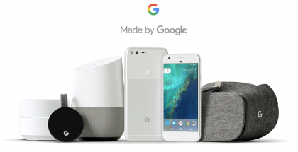 Googlen nykyinen laiteperhe viime syksyltä.
