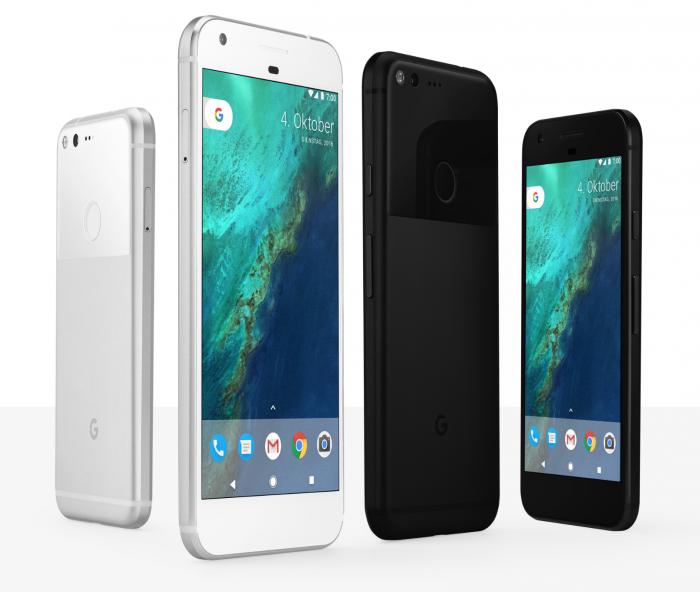 Google Pixel ja Pixel XL.