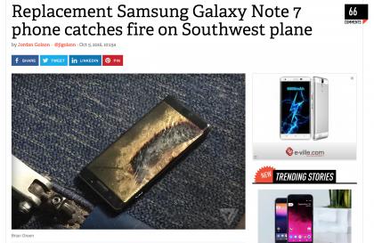The Verge kertoo puhelimen omistajan mukaan sen olleen turvallinen Note7.