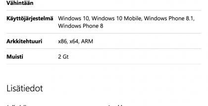 Facebook Messengerin osalta kerrotaan nyt vaatimuksesta 2 gigatavun RAM-muistiin.
