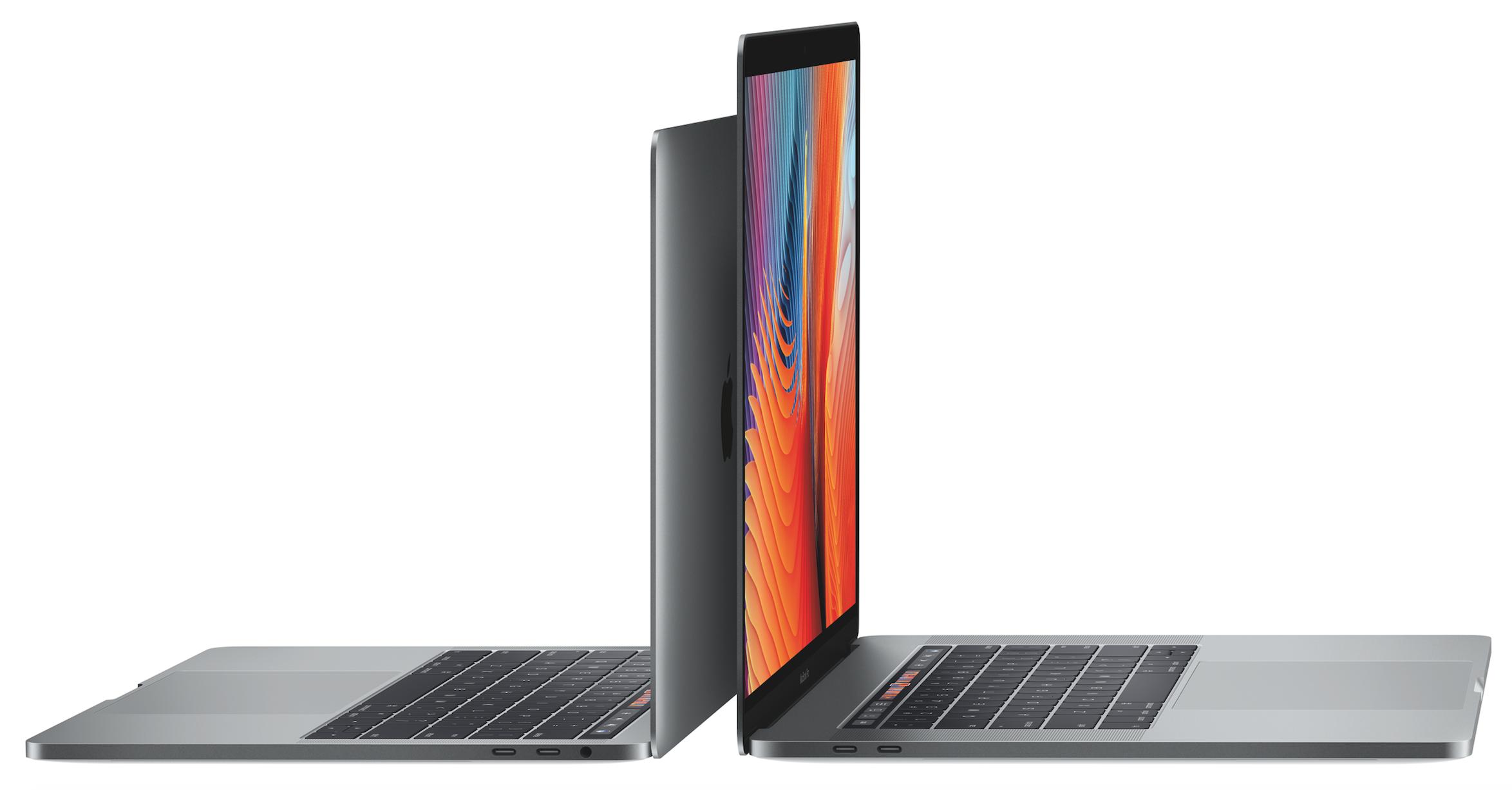 13 ja 15 tuuman MacBook Prot vuodelta 2016.