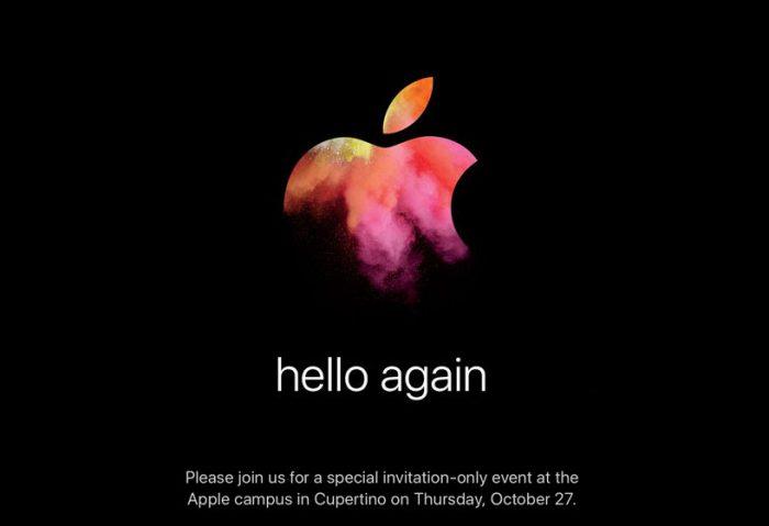 Applen kutsukuvan hello again -maininta viittaa alkuperäiseen Macintosh-julkistukseen yli 30 vuotta sitten.