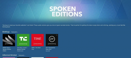 Applen Spoken Editions.