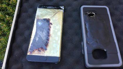 Nicholasvillessä pamahtanut Galaxy Note7.