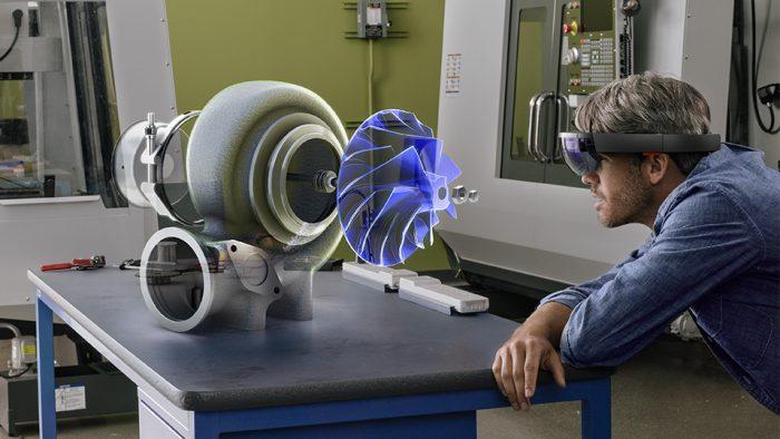 Esimerkki HoloLensin käytöstä.