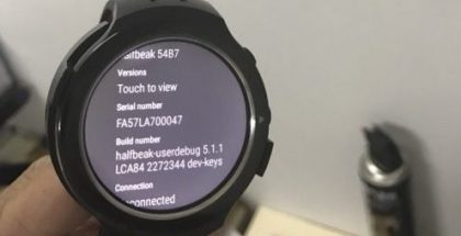 HTC:n pyöreä Android Wear -älykello Halfbeak.