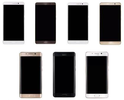 Huawei Mate 9:n kaksi eri versiota Evan Blassin aiemmin vuotamassa kuvassa.