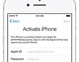 Aktivointilukittun iPhonen voi avata vain kirjautumalla linkitetylle Apple ID -tilille.