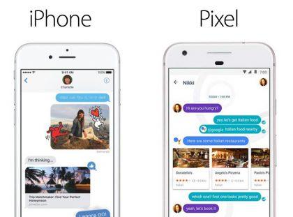 iPhone vs. Pixel.