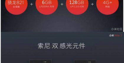 Kuvankaappauksia paljastuneesta Mi Note 2 -esityksestä.