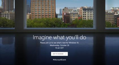 Microsoftin tilaisuuden ennakkosivu.