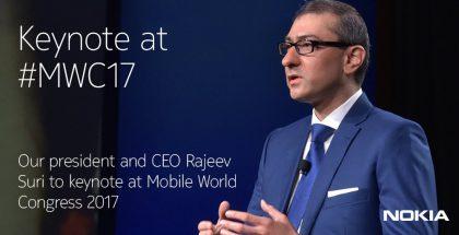 Nokian Rajeev Suri tulee esiintymään Mobile World Congressin yhtenä pääpuhujana.