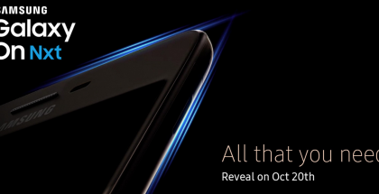 Samsung Galaxy On Nxt -julkistusta luvataan torstaille 20. lokakuuta.