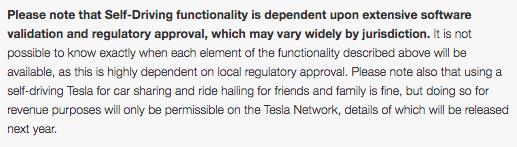 Näin Tesla kertoo, että itseajetun auton jako on mahdollista vain Tesla Networkin kautta.