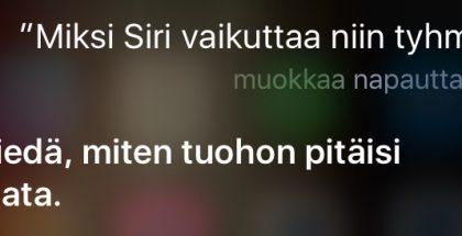 Kysyimme asiaa myös Siriltä itseltään.