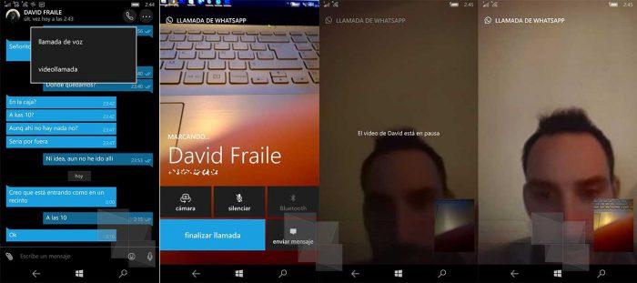 Videopuhelut WhatsAppin Windows-puhelinversiossa.