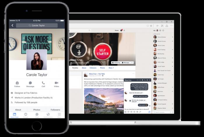 Workplace by Facebook tuo yritysten viestintään samoja toimintoja kuin normi-Facebookissakin.
