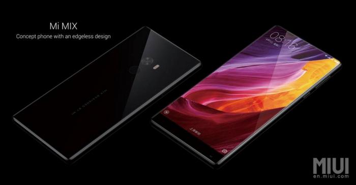 Xiaomi Mi MIXissä on keraaminen rakenne.