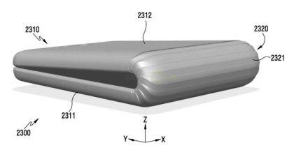 Samsungin patenttihakemus on aiemmin paljastanut muun muassa tällaisen taittuvan laitteen.