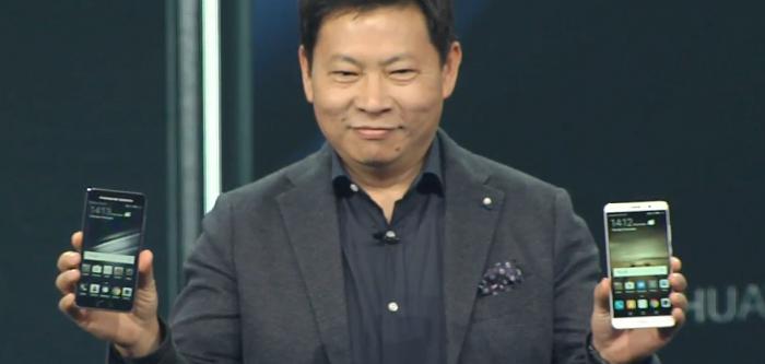 Huawein Richard Yu esitteli Mate 9 -uutuudet.