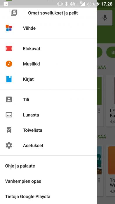 Google Play päivitykset