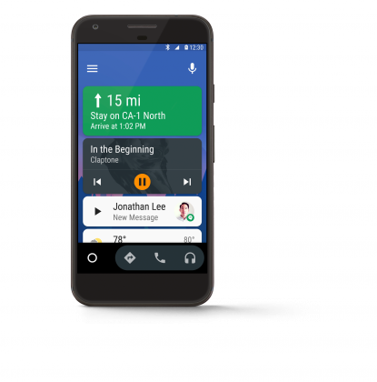 Android Auto tulee puhelimeen.