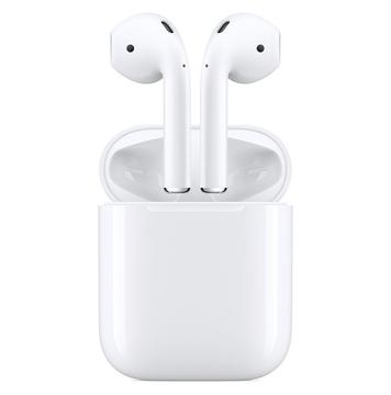 Applen AirPodsit ja niiden latauskotelo.
