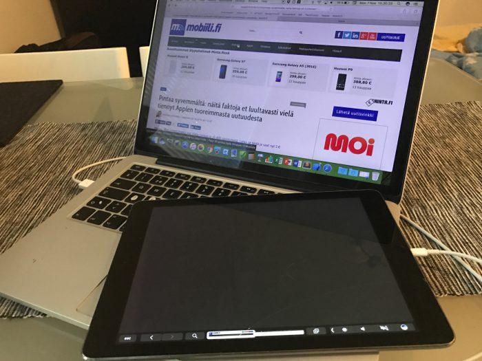 Uuden MacBook Pron Touch Bar -toiminnallisuutta voi kokeilla jo nyt - toki varsin kömpelösti, mutta toiminnallisuus käy täysin selväksi.