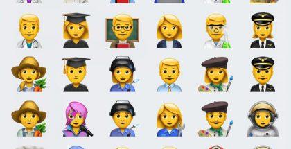 iOS 10.2:n uusia ammattiemojeja.
