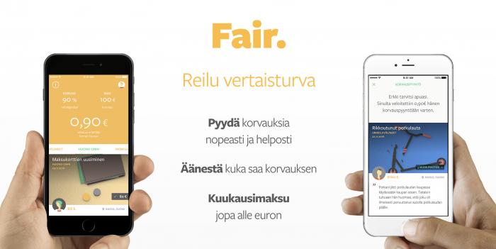 Fair tuo uudenlaisen vertaisturvan älypuhelinsovelluksena.