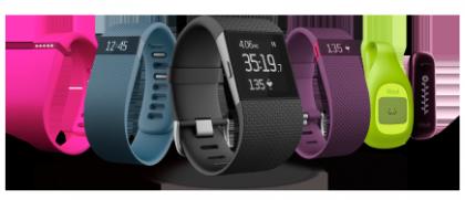 Fitbit-tuoteperhettä.