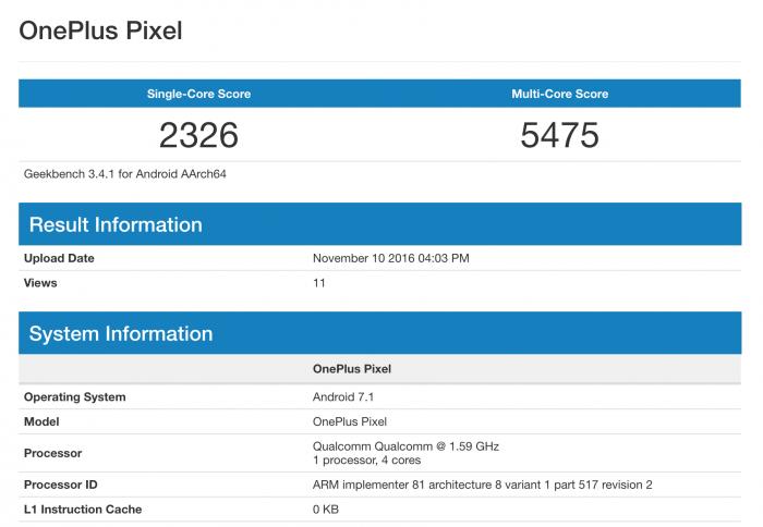 OnePlus Pixel ilmestyi GeekBenchiin. Mitä ihmettä?