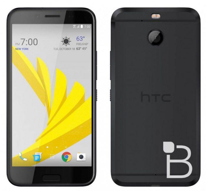 HTC Bolt, mahdollisesti nimeltään HTC 10 evo, mustana värivaihtoehtona TechnoBuffalon julkaisemassa lehdistökuvassa.
