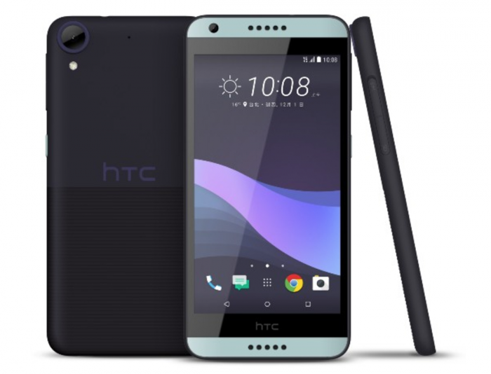 HTC Desire 650:n tumma värivaihtoehto.
