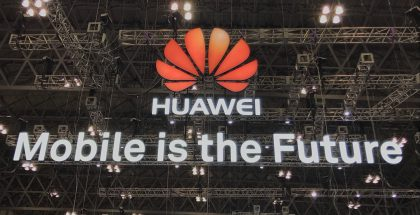 Huawei logo Mobile is the Future.