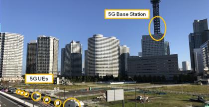 Huawei teki 5G-testin Yokohamassa, Japanissa.