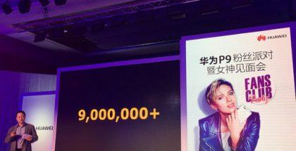 Huawei P9:n 9 miljoonan saavutuksesta kerrottiin tilaisuudessa Kiinassa.