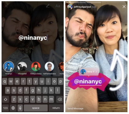 Maininnat Instagram Storiesissa.