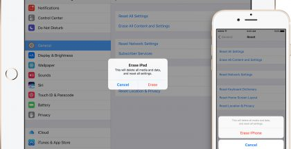 iOS 10 iPhone iPad tyhjennä