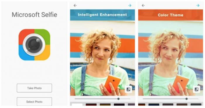 Microsoft Selfie Androidille.