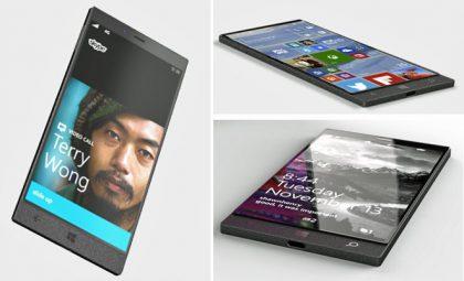 Evan Blassin julkaisema kuva. Mahdollinen Microsoftin puhelinkonsepti.