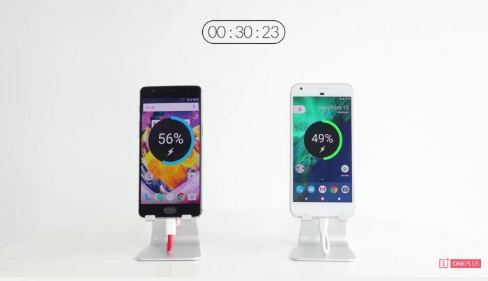 OnePlus 3T vs. Google Pixel XL.