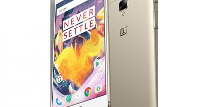 OnePlus 3T:n nykyinen Soft Gold -väri.