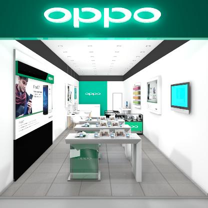 OPPO-myymälä.